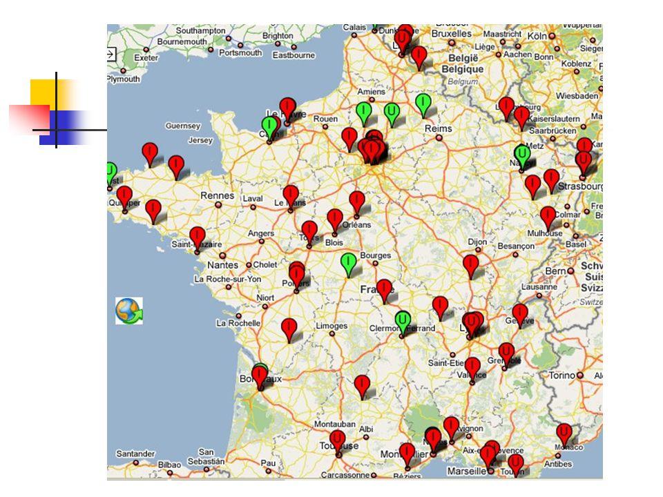 Carte des mobilisations