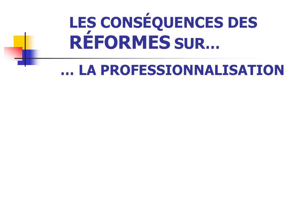 LES CONSÉQUENCES DES RÉFORMES SUR… … LES CAPES  La perte du statut de fonctionnaire,  la précarisation,  la dépendance aux chefs d'établissement so
