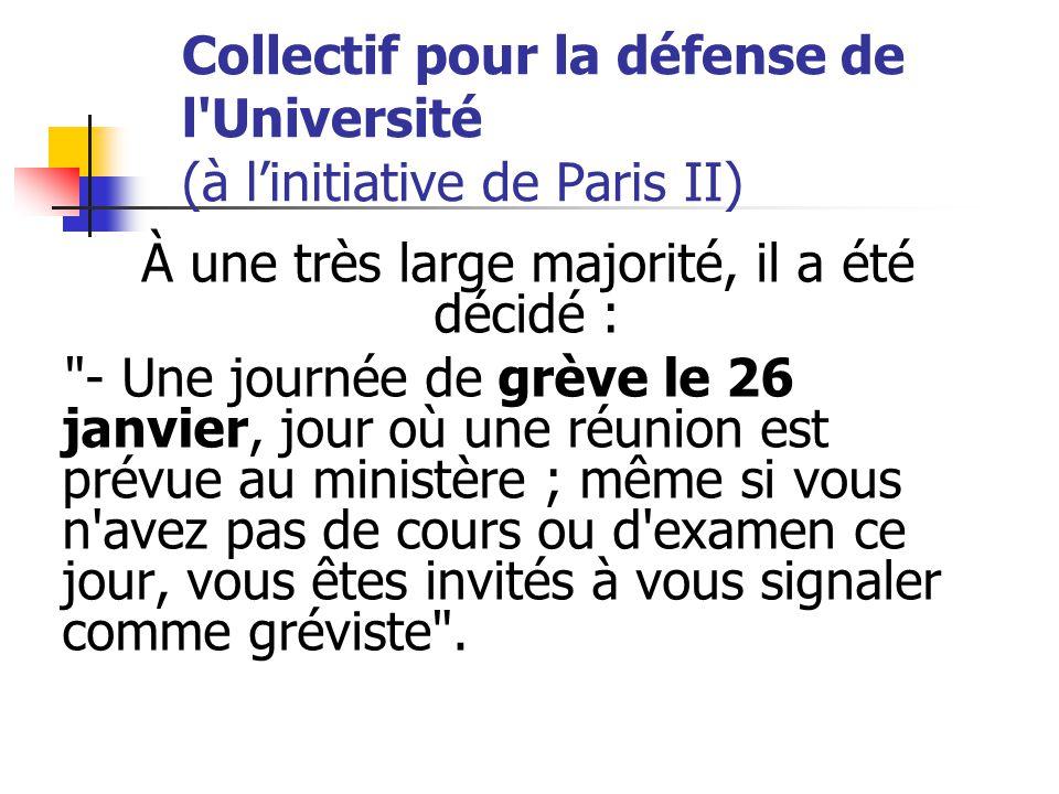 Après la réunion tenue à Paris le samedi 17 janvier, ce collectif composé de juristes et de représentants d'autres disciplines, a procédé à un vote.