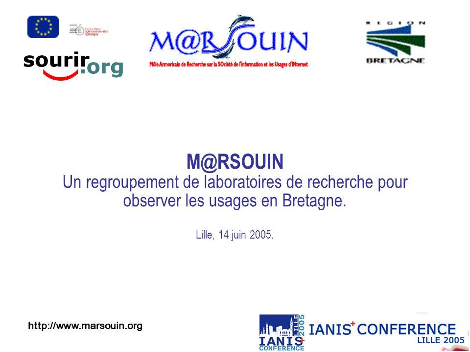 M@RSOUIN Un regroupement de laboratoires de recherche pour observer les usages en Bretagne.