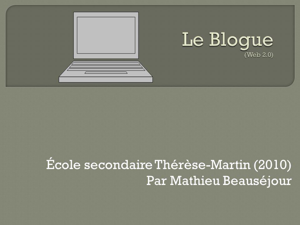 École secondaire Thérèse-Martin (2010) Par Mathieu Beauséjour