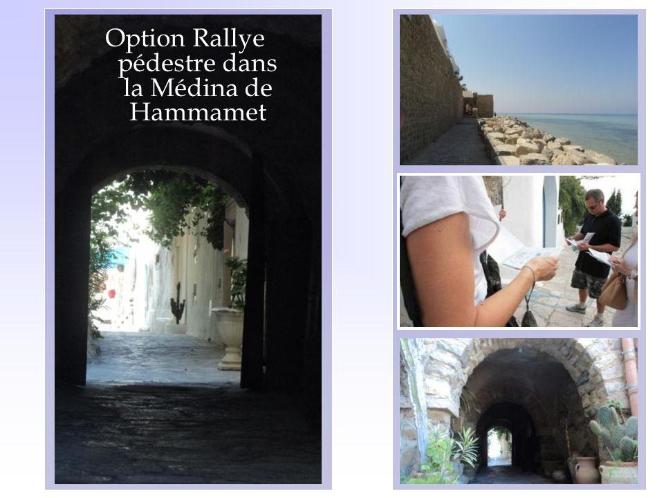 Option Rallye pédestre dans la Médina de Hammamet
