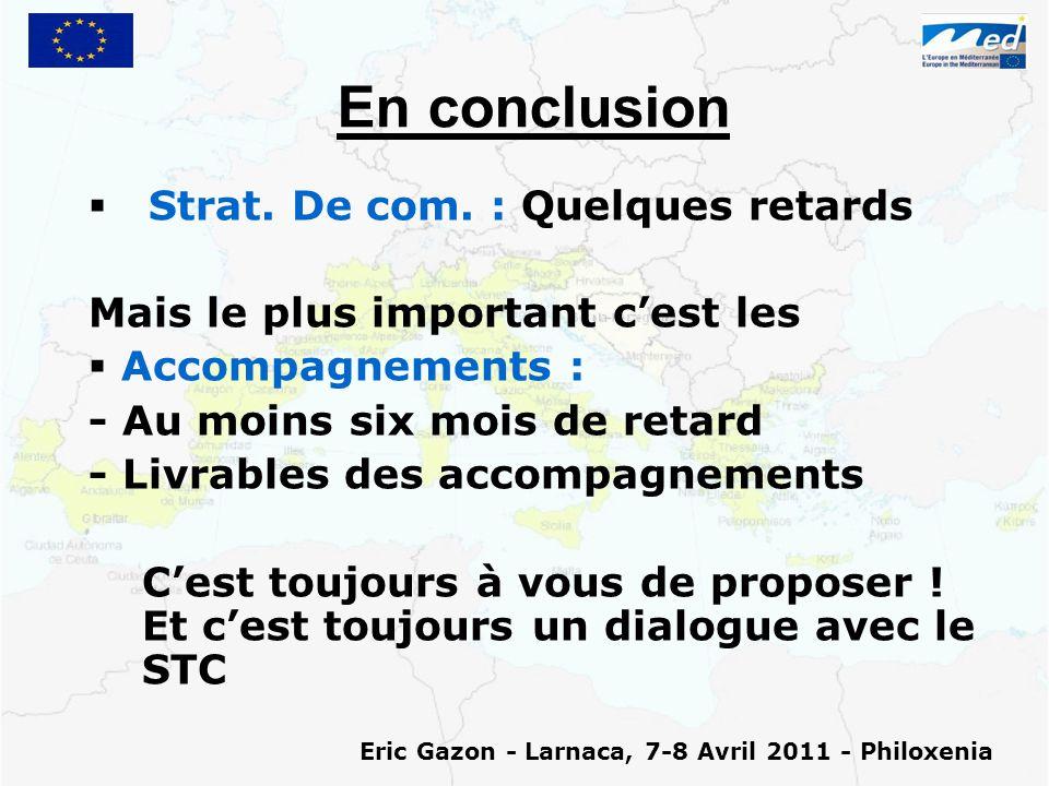 En conclusion   Strat. De com.