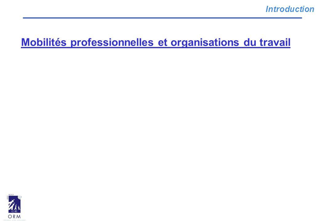 Introduction Mobilités professionnelles et organisations du travail