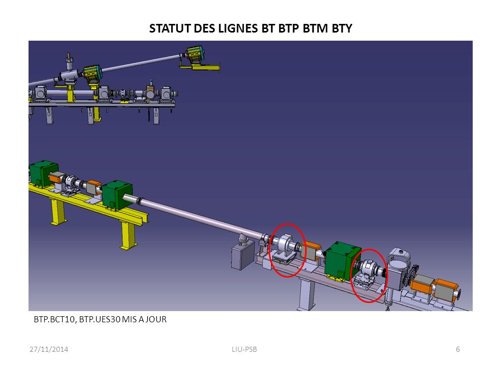 STATUT DES LIGNES BT BTP BTM BTY POSITION BTP.STP10: POINTS ISSUS DE GEODE COHERENTS AVEC LE SCAN 3D 27/11/2014LIU-PSB7