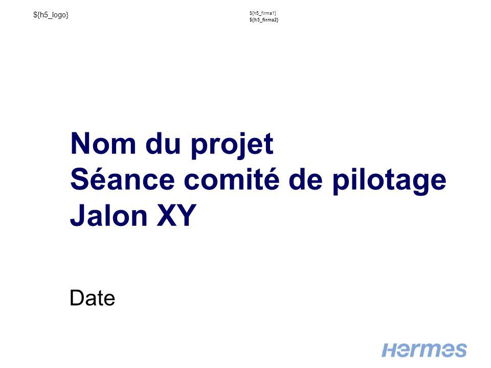 ${h5_logo} ${h5_firma1} ${h5_firma2} Nom du projet Séance comité de pilotage Jalon XY Date