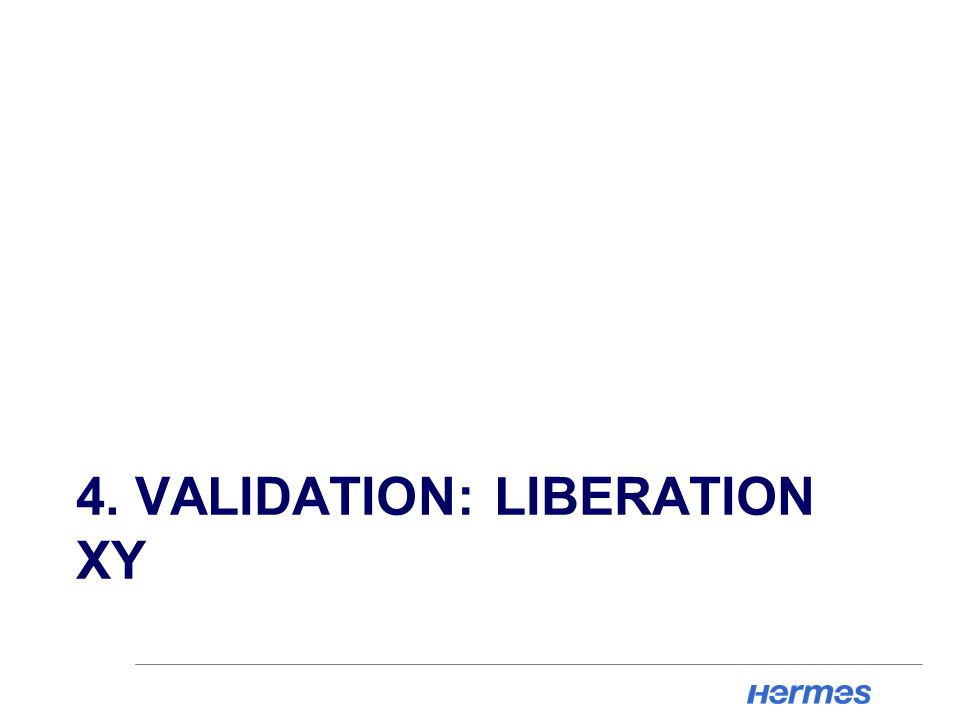 4. VALIDATION: LIBERATION XY