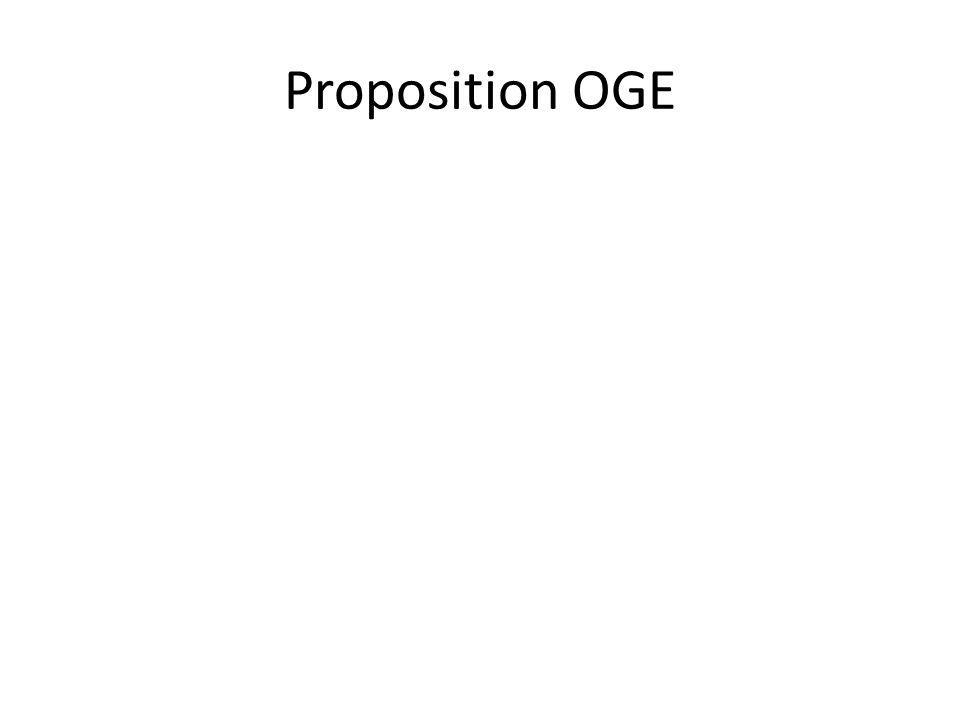 Proposition OGE