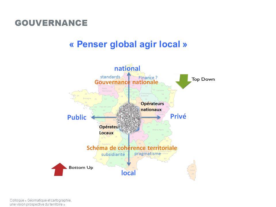 « Penser global agir local » GOUVERNANCE Colloque « Géomatique et cartographie, une vision prospective du territoire »