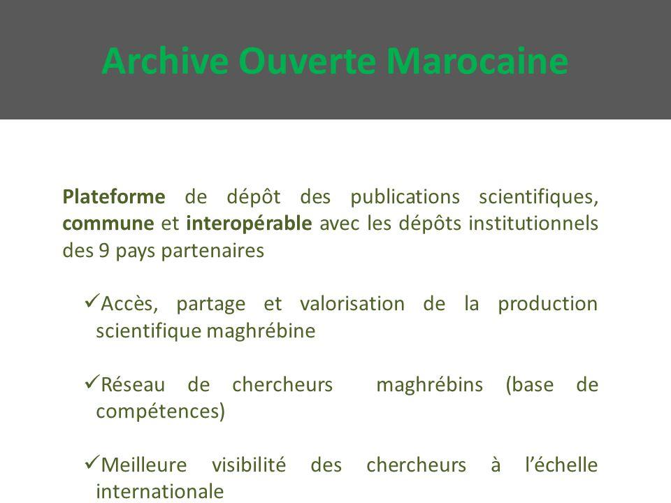 Schéma de l'archive ouverte marocaine