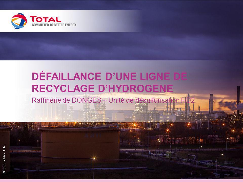 © Kuch Latthias / Total DÉFAILLANCE D'UNE LIGNE DE RECYCLAGE D'HYDROGENE Raffinerie de DONGES – Unité de désulfurisation HD2