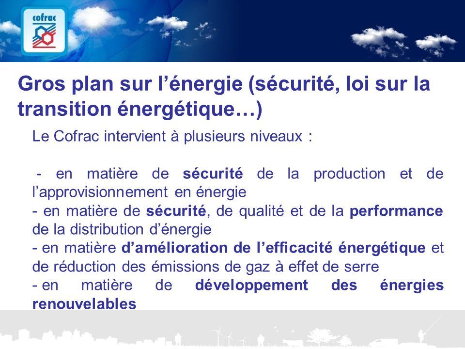 www.cofrac.fr 11 Projets Communication 2010/2011 Gros plan sur l'énergie (sécurité, loi sur la transition énergétique…) Le Cofrac intervient à plusieu