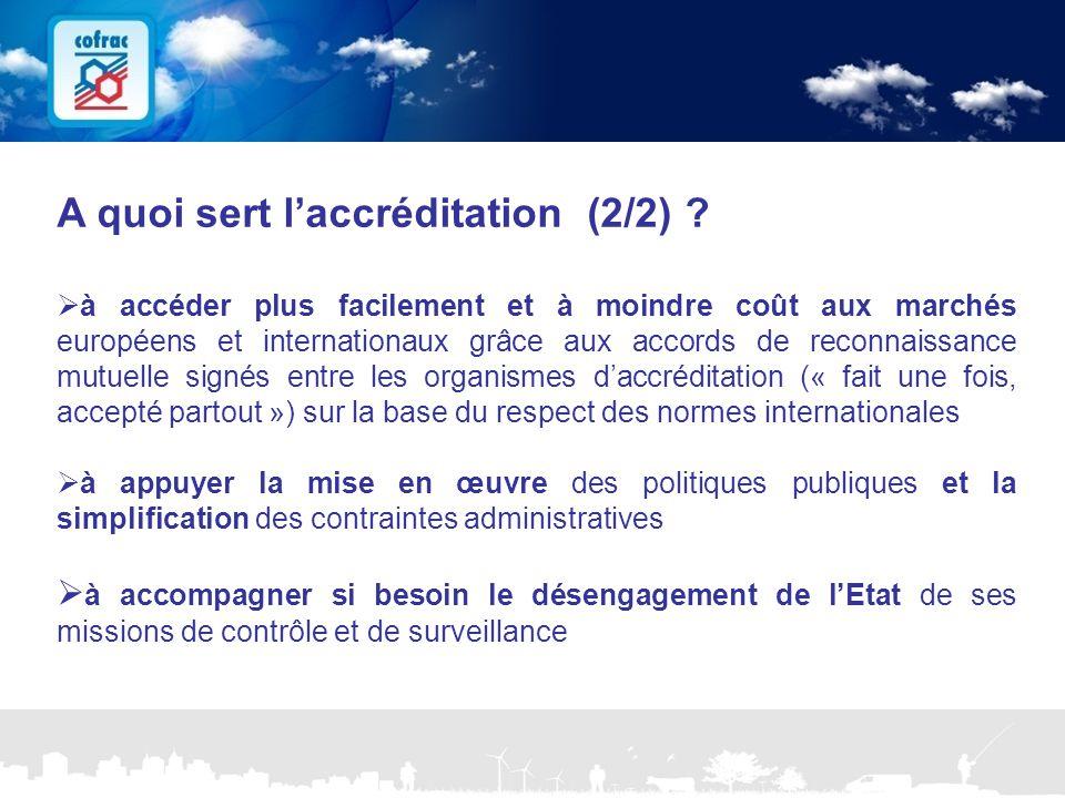 www.cofrac.fr 7 Projets Communication 2010/2011 A quoi sert l'accréditation (2/2) ?  à accéder plus facilement et à moindre coût aux marchés européen