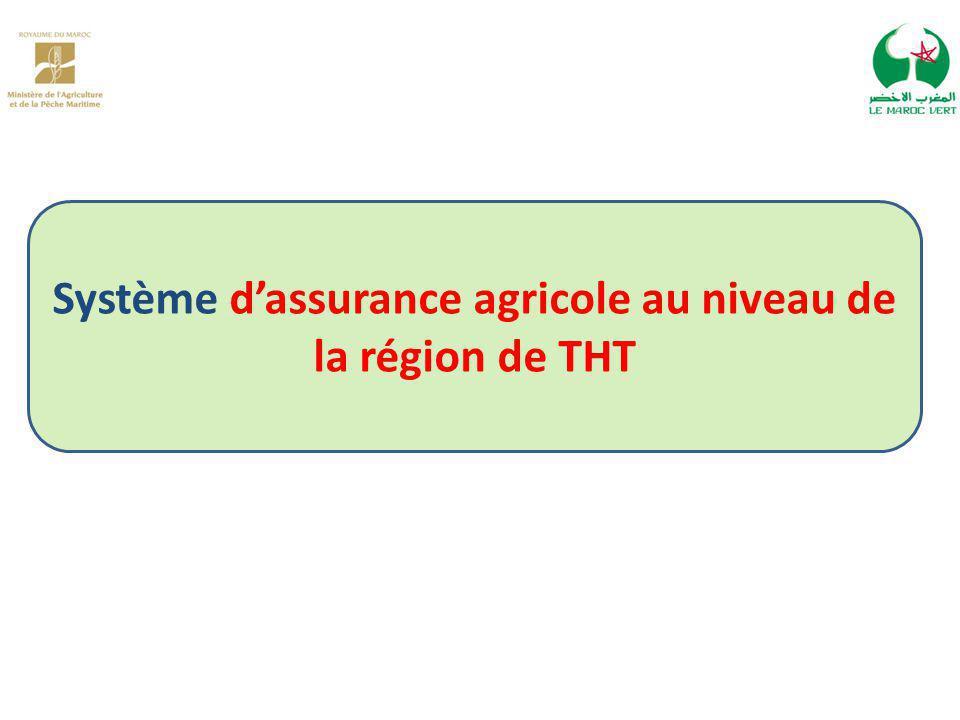 Système d'assurance agricole au niveau de la région de THT