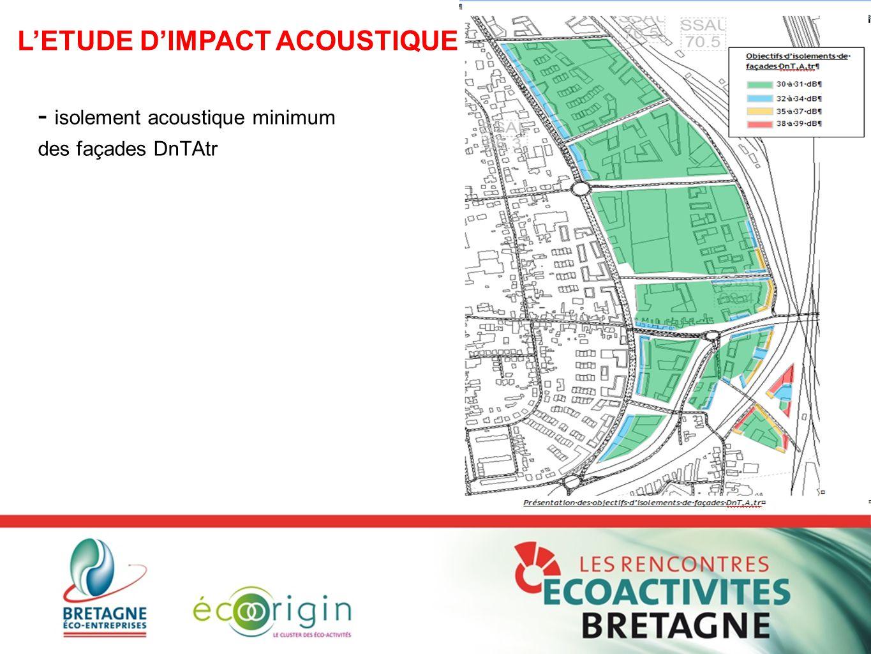 - isolement acoustique minimum des façades DnTAtr L'ETUDE D'IMPACT ACOUSTIQUE