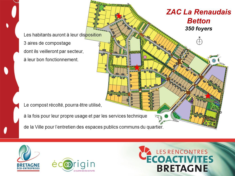Les habitants auront à leur disposition 3 aires de compostage dont ils veilleront par secteur, à leur bon fonctionnement. ZAC La Renaudais Betton 350