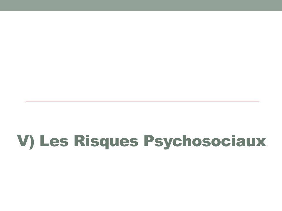 V) Les Risques Psychosociaux