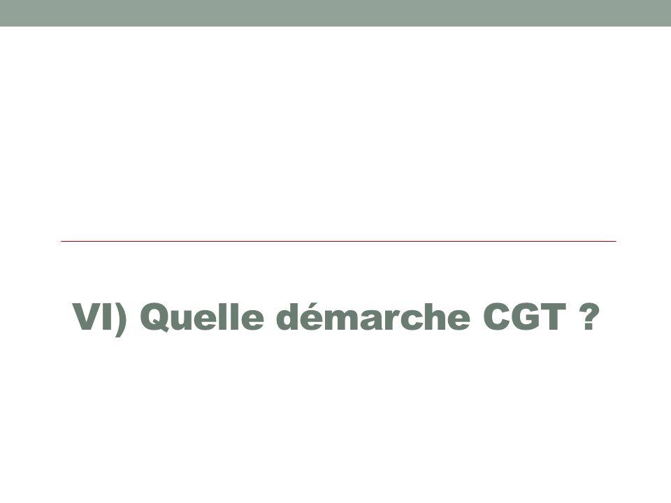 VI) Quelle démarche CGT ?