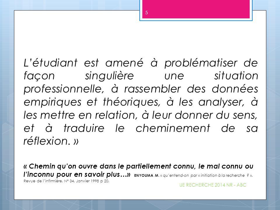 1.6 Les citations et références (cf consignes A.