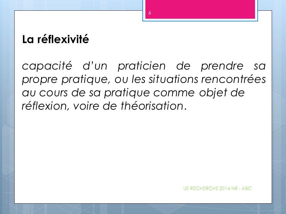 UE RECHERCHE 2014 NR - ABC 47 1.7 Les normes de rédaction d'une bibliographie (cf consignes A.