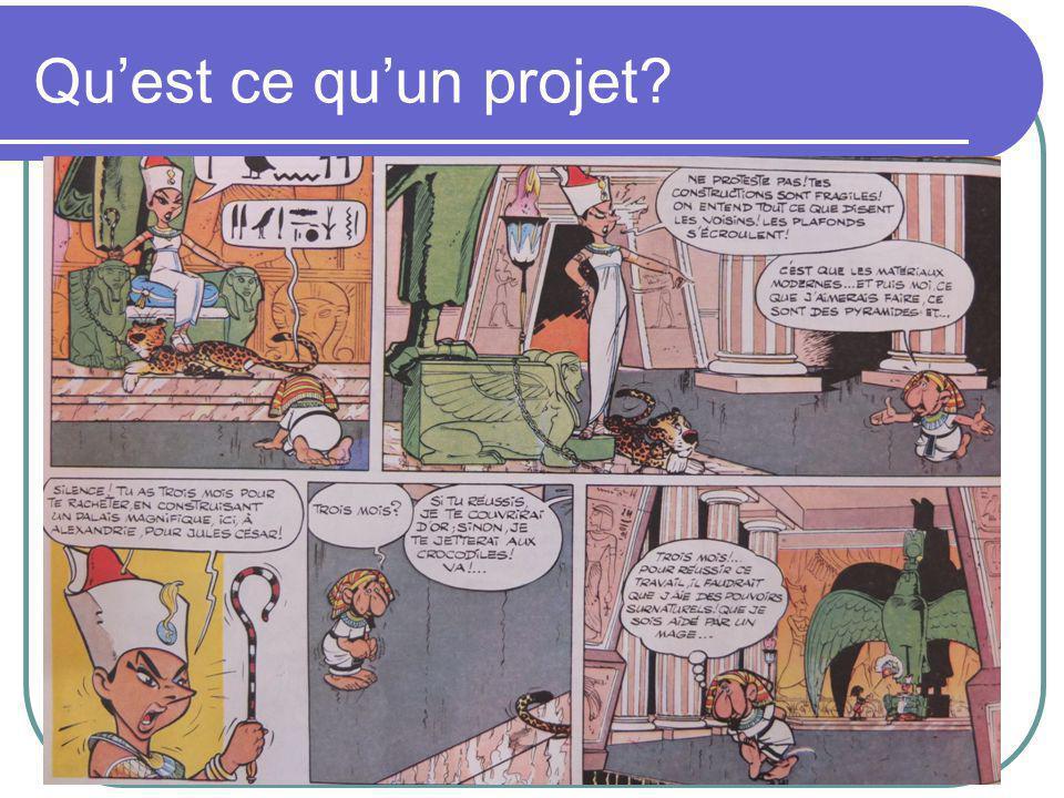 Etape 4: découpage du projet Voici un exemple de découpage d'un projet: