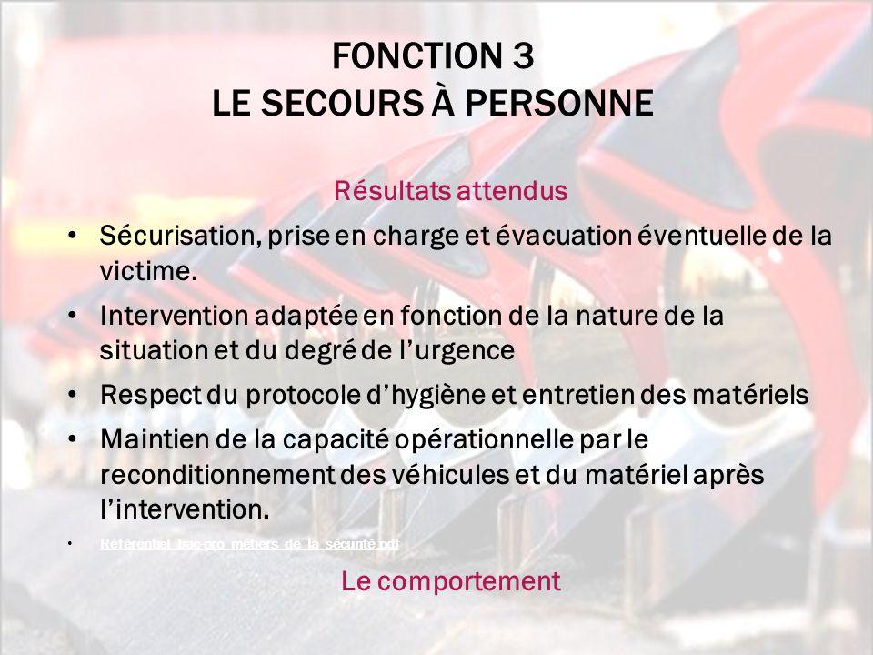ActivitésTâches A3.1 Assurer les missions de secours et d'assistance aux victimes, seul ou en équipe A3.1T1 Donner et/ou recevoir l'alerte A3.1T2 Sécuriser le lieu Supprimer ou limiter le risque de suraccident A3.1T3 Établir le contact avec la ou les victimes A3.1T4 Établir un bilan de premier secours A3.1T5 Mettre en sécurité la victime A3.1T6 Réaliser les gestes de premier secours A3.1T7 Utiliser les matériels à disposition A3.1T8 Accueillir et guider les secours A3.1T9 Préparer le brancardage et l'évacuation de la victime