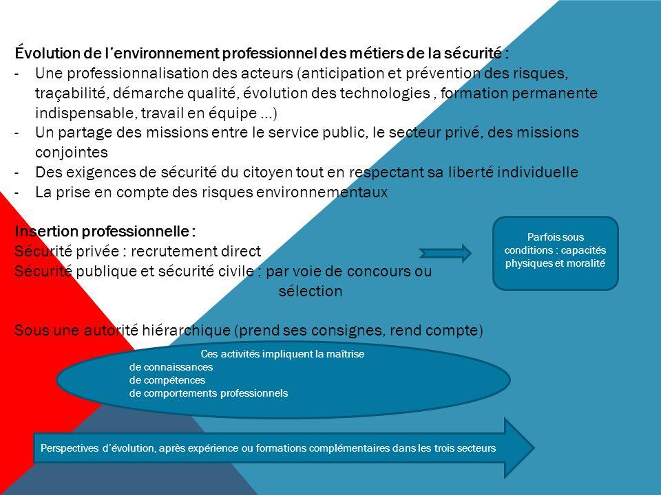 BACCALAURÉAT PROFESSIONNEL MÉTIERS DE LA SÉCURITÉ Le référentiel des activités professionnelles (RAP)