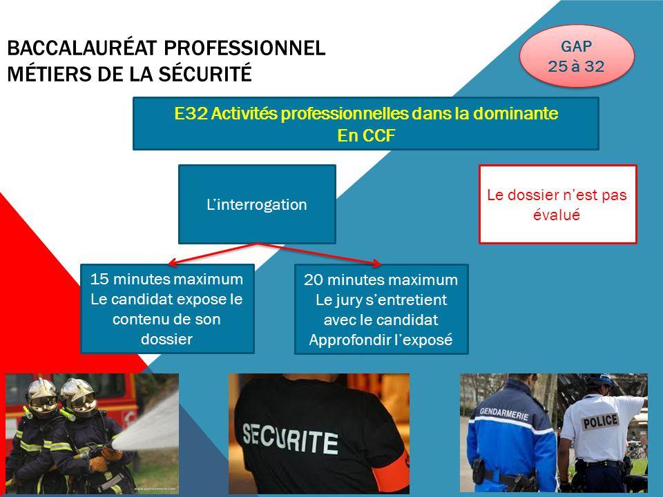 BACCALAURÉAT PROFESSIONNEL MÉTIERS DE LA SÉCURITÉ Les épreuves ponctuelles