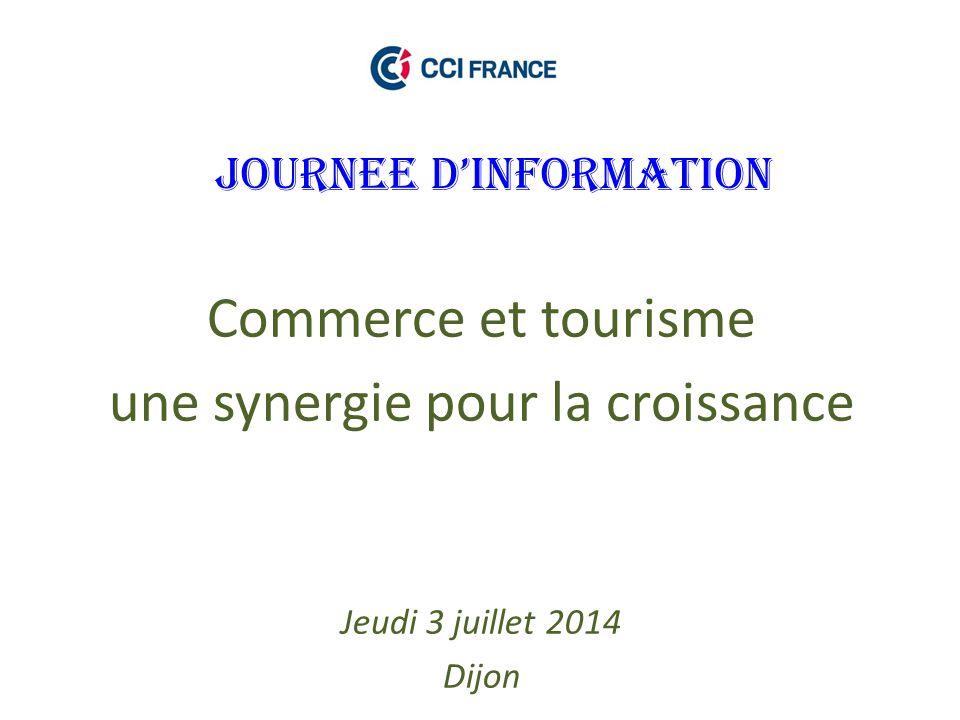 JOURNEE D'INFORMATION Commerce et tourisme une synergie pour la croissance Jeudi 3 juillet 2014 Dijon