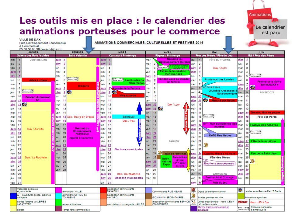 14 Les outils mis en place : le calendrier des animations porteuses pour le commerce