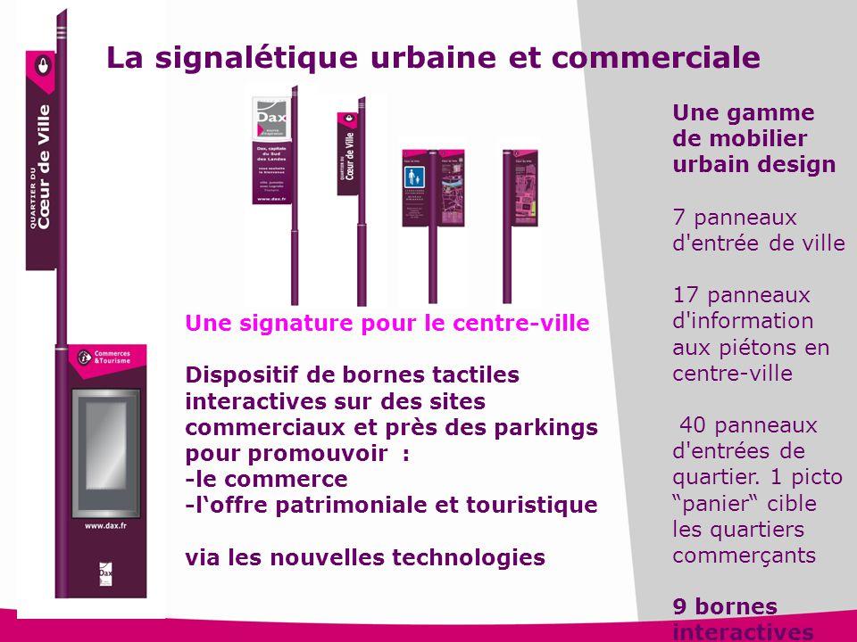 15 Une signature pour le centre-ville Dispositif de bornes tactiles interactives sur des sites commerciaux et près des parkings pour promouvoir : -le