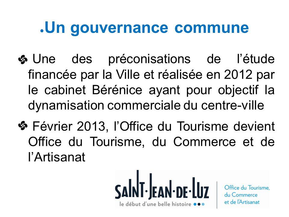 ● Un gouvernance commune Une des préconisations de l'étude financée par la Ville et réalisée en 2012 par le cabinet Bérénice ayant pour objectif la dy