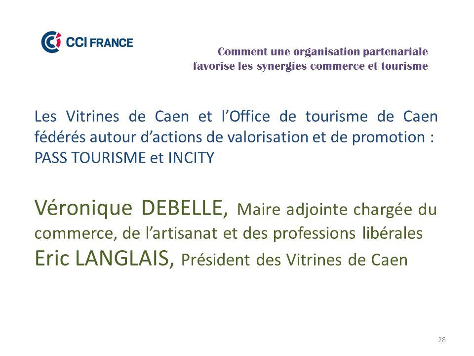 28 Les Vitrines de Caen et l'Office de tourisme de Caen fédérés autour d'actions de valorisation et de promotion : PASS TOURISME et INCITY Véronique D