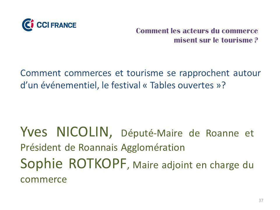 37 Yves NICOLIN, Député-Maire de Roanne et Président de Roannais Agglomération Sophie ROTKOPF, Maire adjoint en charge du commerce Comment les acteurs