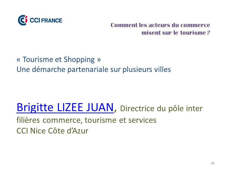 48 Brigitte LIZEE JUANBrigitte LIZEE JUAN, Directrice du pôle inter filières commerce, tourisme et services CCI Nice Côte d'Azur Comment les acteurs d