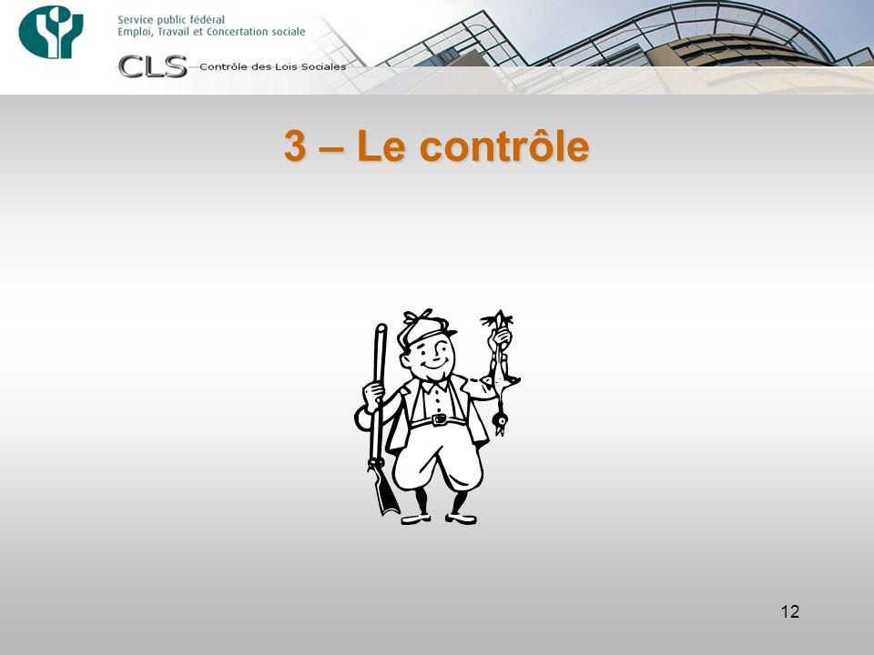 3 – Le contrôle 12