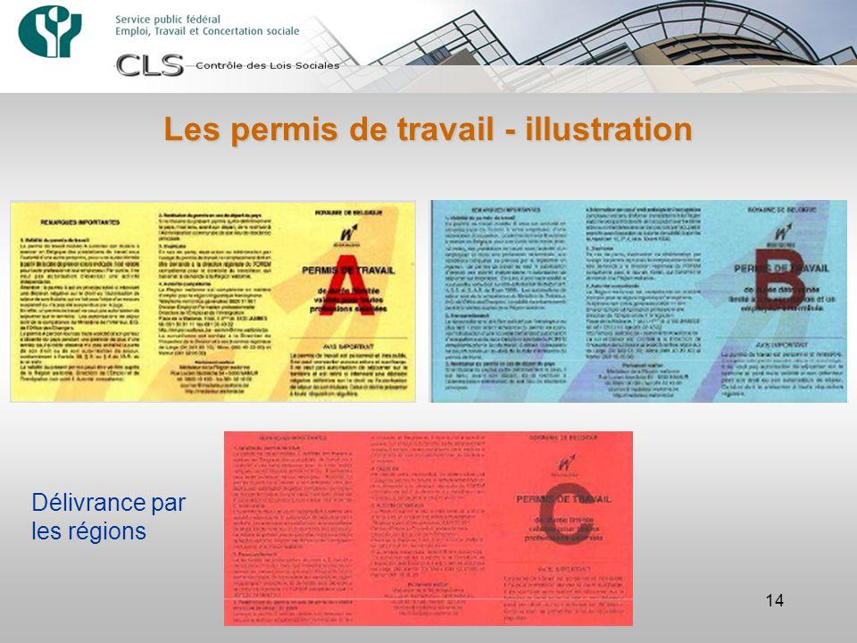 14 Les permis de travail - illustration Délivrance par les régions