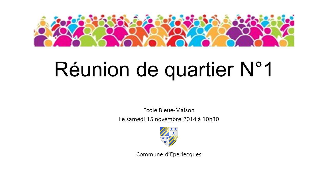 Réunion de quartier N°1 Ecole Bleue-Maison Le samedi 15 novembre 2014 à 10h30 Commune d'Eperlecques