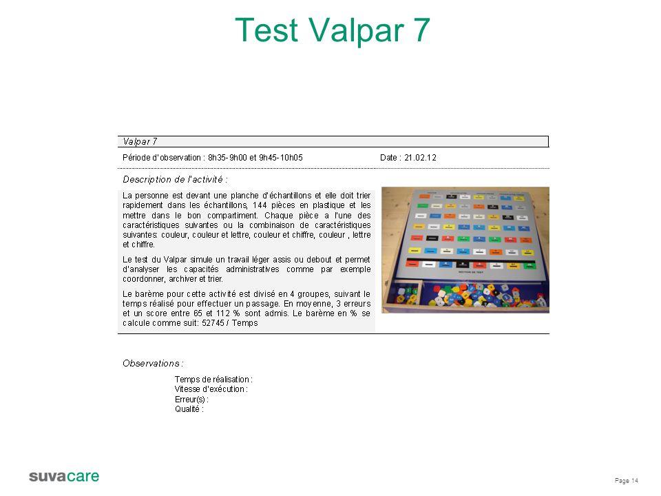 Page 14 Test Valpar 7