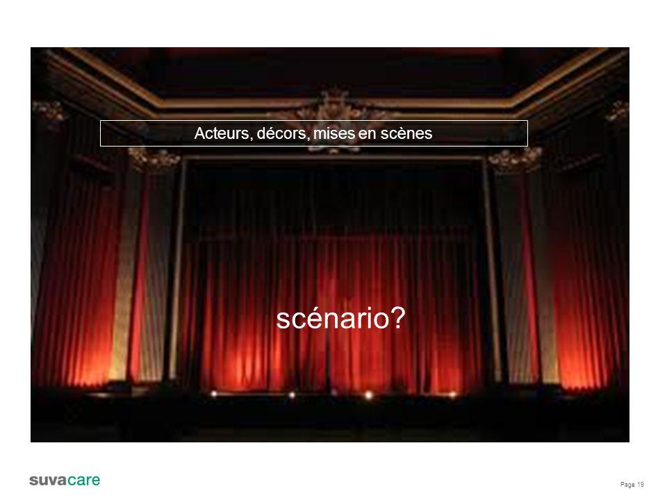 Page 19 Acteurs, décors, mises en scènes scénario?