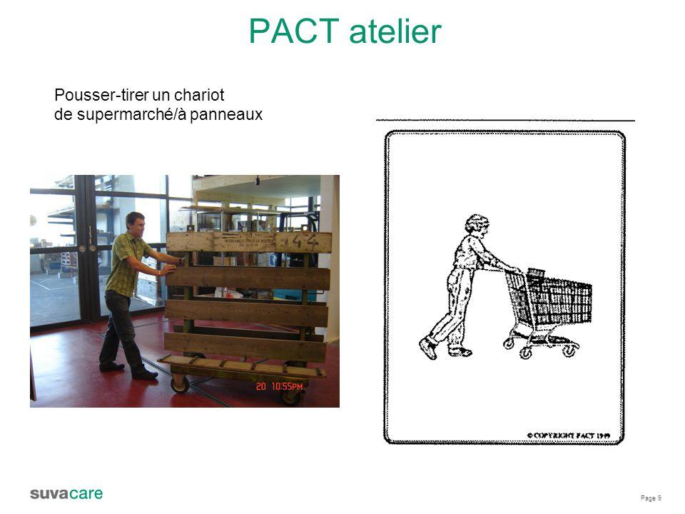 Page 9 PACT atelier Pousser-tirer un chariot de supermarché/à panneaux