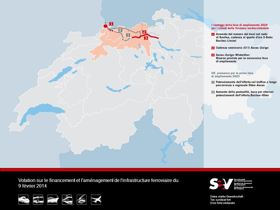 Votation sur le financement et l aménagement de l infrastructure ferroviaire du 9 février 2014 Deine starke Gewerkschaft Ton syndicat fort Il tuo forte sindacato 7