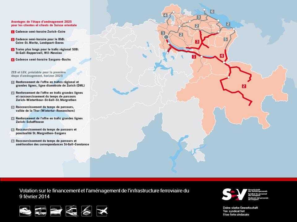 Votation sur le financement et l aménagement de l infrastructure ferroviaire du 9 février 2014 Deine starke Gewerkschaft Ton syndicat fort Il tuo forte sindacato 8