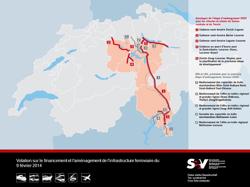 Votation sur le financement et l aménagement de l infrastructure ferroviaire du 9 février 2014 Deine starke Gewerkschaft Ton syndicat fort Il tuo forte sindacato 9