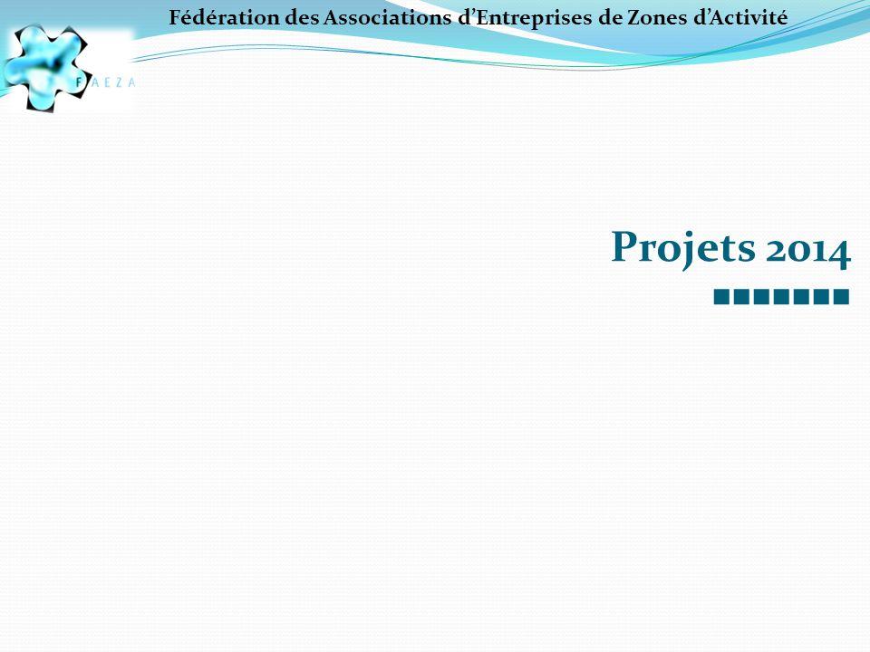 Projets 2014 ■■■■■■■ Fédération des Associations d'Entreprises de Zones d'Activité