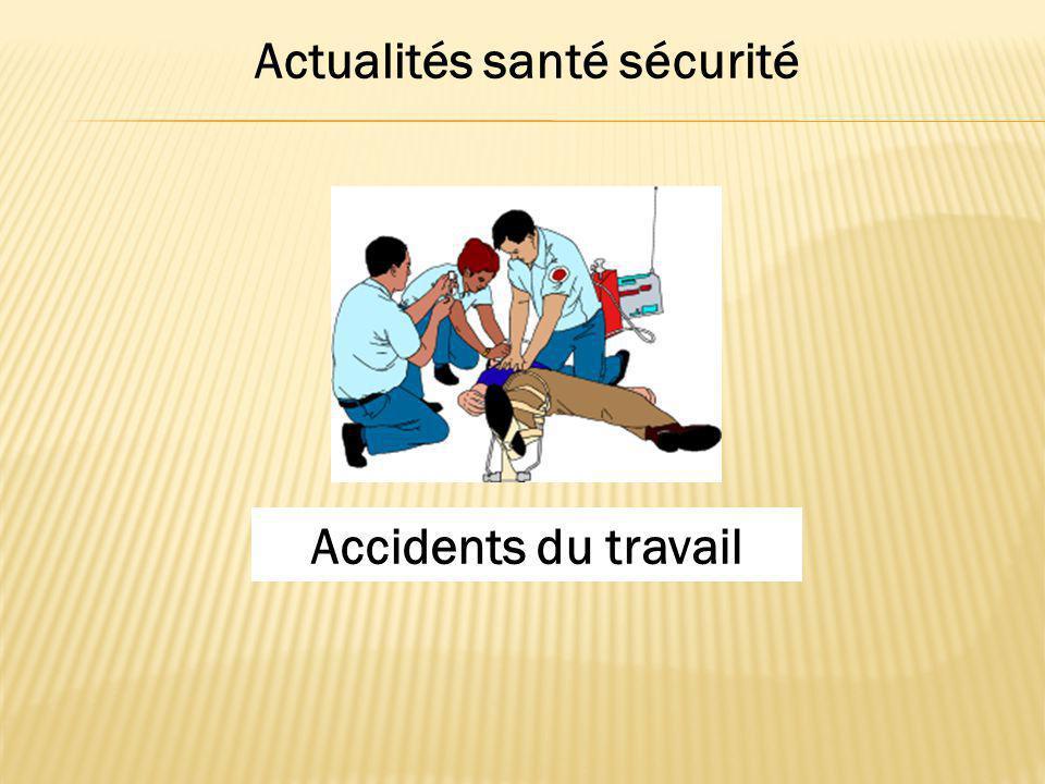 Actualités santé sécurité Accidents du travail