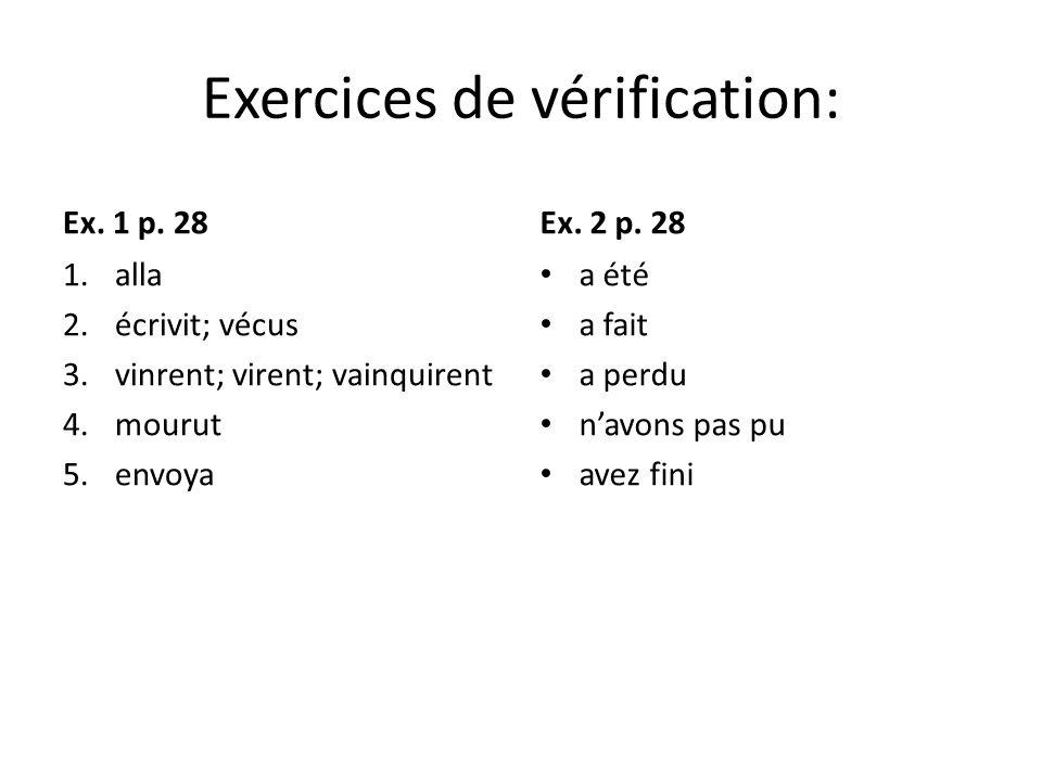 Exercices de vérification: Ex.1 p.