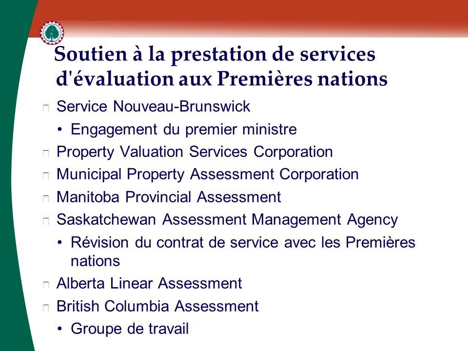 Soutien à la prestation de services d'évaluation aux Premières nations ▶ Service Nouveau-Brunswick Engagement du premier ministre ▶ Property Valuation