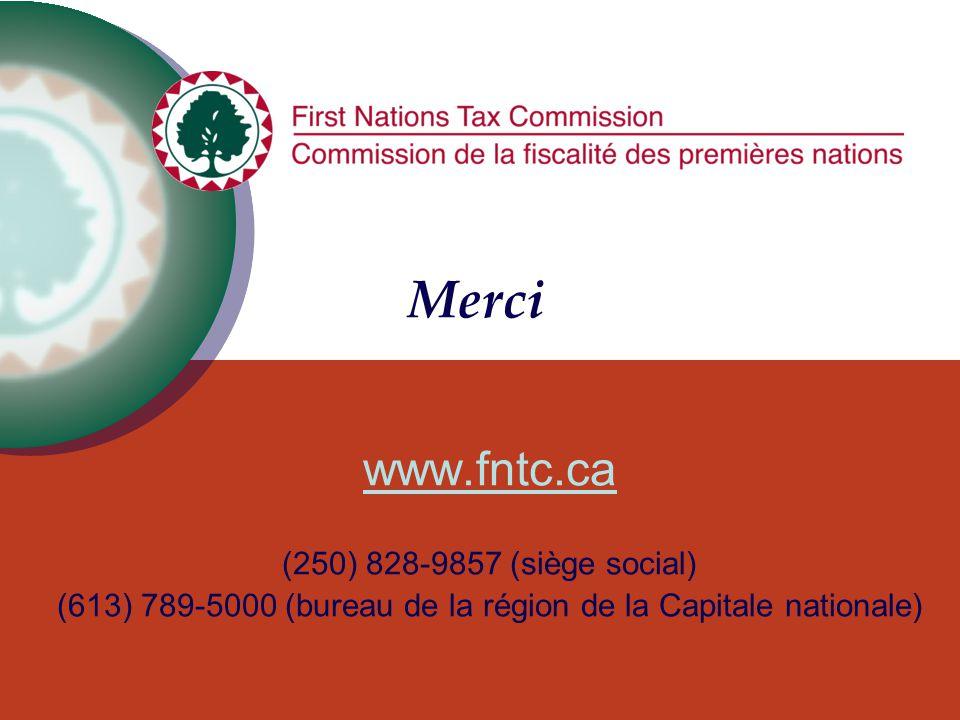 Merci www.fntc.ca (250) 828-9857 (siège social) (613) 789-5000 (bureau de la région de la Capitale nationale)