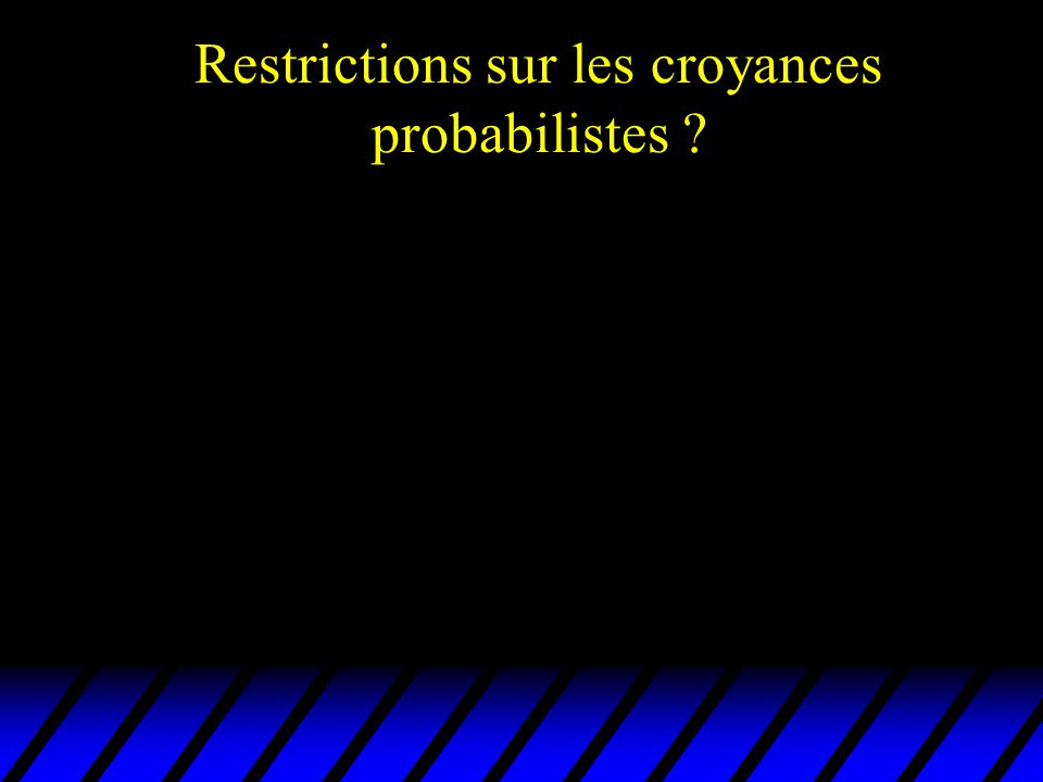 Restrictions sur les croyances probabilistes ?